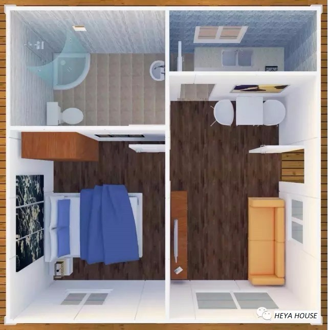 Heya int 39 l une chambre mobile cologique mat riel for Container chambre