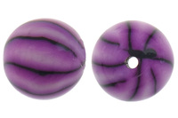 11mm multi-colored Round Polymer Clay Beads
