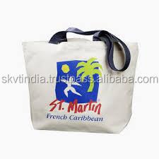 wholesale promotional canvas cotton printed bags