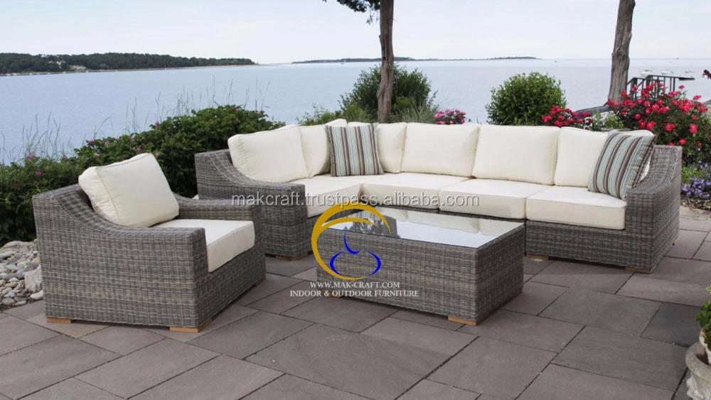 2016 venta Caliente Antigua PE PVC conjunto de Sofás Muebles de jardín De Ratán Sintético