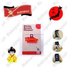 Touch Screen Mobile phone Sticky Microfiber Cleaner leather cellphone case sticker promo