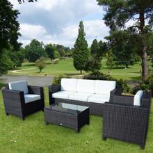 Luxury Outdoor Patio PE Rattan Wicker Sofa Set NFRT02