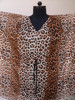 tiger print 100% cotton cambric Kansans ponchos / V neck Cotton Kaftan