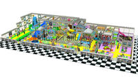 New kids plastic naughty castle with water bed,elephant water slide,spring riders and three people ride