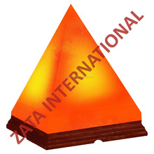"""Himalayan Rock Crystal Salt Lamp Pyramid Shape Natural Negative Ions Generator Size 7"""" x 6"""" x 6"""""""