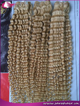 The cheapest price from our company Curly blonde 28'' hair extension