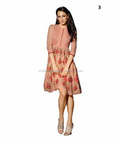 Women Linen Tunic Tops   Georgette Kurti Tunic   Embroidery Tunic Top Kurta