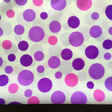 Waterproof umbrella fabric/Silver coated/190T Polyester Pongee/Colorful dots/polyester printed umbrella fabric
