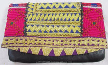Latest Design 2015 BANJARA VINTAGE HIPPIE BOHO TRIBAL ETHNIC WORK DESIGNER LEATHER CLUTCH BAG