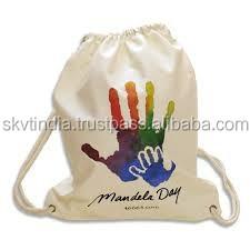 Customized Logo Printing Drawstring cotton string bags