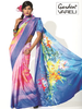 Blooming Art Crepe Floral Printed Saree