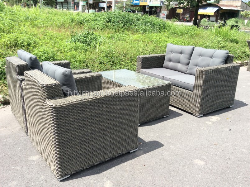 poly rattan sofa set poly rattan furniture wicker sofa. Black Bedroom Furniture Sets. Home Design Ideas