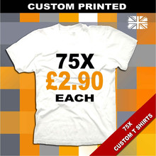 75 cheap white cotton t shirts promotional event