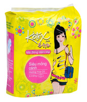 STYLE SUPER THIN WINGS COTTON SURFACE SANITARY NAPKIN 8 PADS