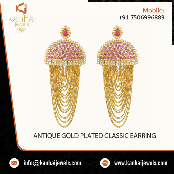 ANTIQUE GOLD PLATED CLASSIC EARRING  1.jpg