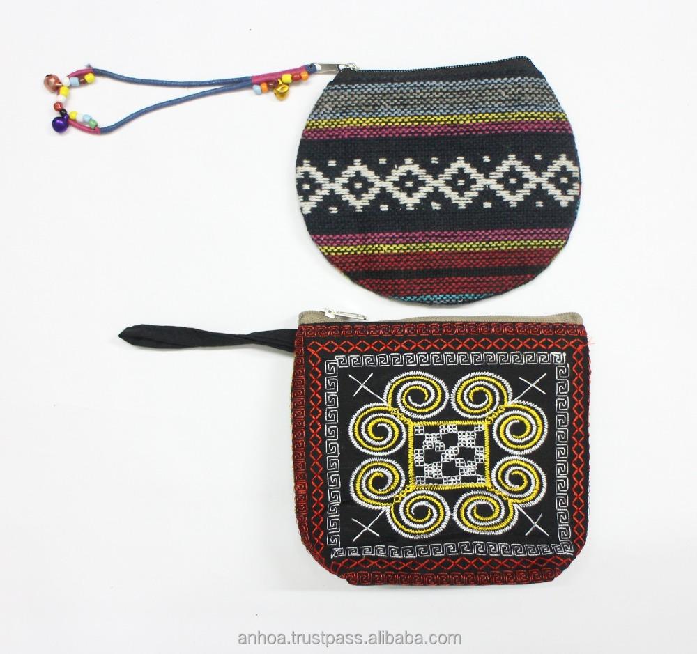 Vietnam embroidery brocade style purse