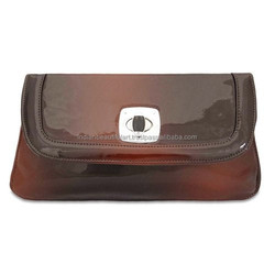Brown Clutch Handbag Faux Leather Fabric Wallet Evening Party Purse Ladies Purse
