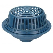 "Zurn Wilkins Z100-6NL 6"" x 15"" Diameter Main Roof Drain, Neo-Loc Outlet, Poly Dome"