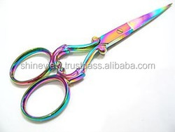 Titanium Coated Embroidery Scissors / Beauty Scissors Various Styles and Color 3.5''