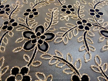 Mesh Embroidery Lace Fabric/ Indian Mesh Lace for Saree Sari design/ Flower design Mesh Fabric