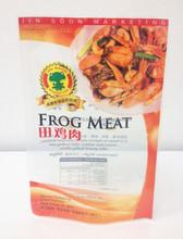 vacuum plastic packaging bag for frog meat,3 side seal food grade frozen food bag,transparent window bag for packing freeze food