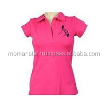 free printing women's cotton Polo T shirt