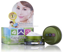 happyface Mega Bright Intensive Cream (15g.) Brighten from first use... you can feel ! Macadamia and Vitamin E extract