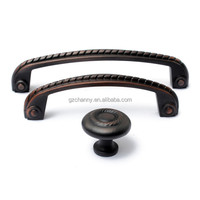 Retro Oil Rubbed Bronze Scroll Rope Cabinet Hardware Pull Handles Knobs Zinc New