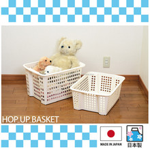 Durable and Functional plastic mesh container with stacking made in Japan