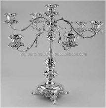 Multicolor mosaic glass candelabra, Table centerpiece mosaic glass candelabra, wedding round shape mosaic glass candelabra