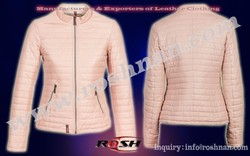 Light Pink hot selling style slim fit Fashion Leather jacket for office girl's/ women's lambskin/ sheepskin