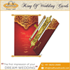 Classic Vintage Designed Royal Scroll Wedding Cards Made in India