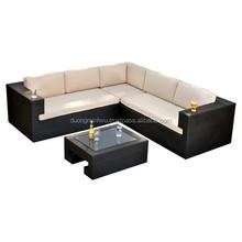 Outdoor sofa hot sale PE rattan and Aluminum frame garden furniture / Rattan sofa furniture DMV-333