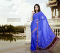 exlusive diseñador sari indio bordado