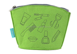 for promot felt with logo cosmetic bag