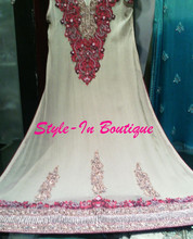 A line frock with embroidery