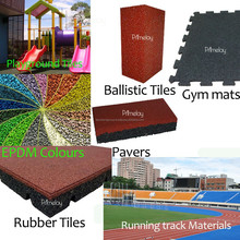 High Performance Rubber Tiles flooring mats for indoor & outdoor uses