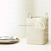 Hot sale cheap price laundry woven wicker basket natural with handles various color modern design
