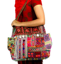Vintage Banjara Bag Women's Leather Strap Hand Bag