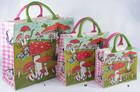 Saco de compras impresso grande La Marelle Paris sacos com alças de couro genuíno