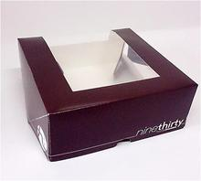 Offset Cupcake Box with window
