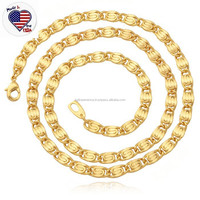 Fashion Design Men Stainless Steel Gold Necklace New Model 2013