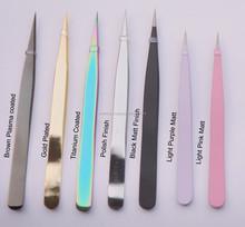 EyeLash Extension Tweezers in Titanium finish , Eyelash Extension tools. Wholesale Eyelash Extension