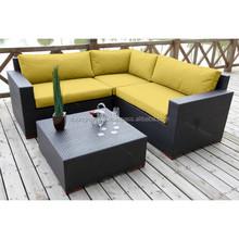Outdoor sofa hot sale PE rattan and Aluminum frame garden furniture / Rattan sofa furniture DMV-334