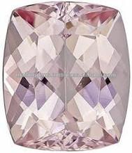 Auspicabile morganite gemma sciolto in taglio cuscino, medie rosa pesco, 12.3 X 10.4 mm