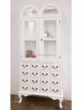 doubledome cabinet with glass 16 drawers