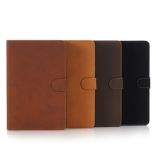 Luxury Crazy horse pattern stand leather case for apple ipad mini 4