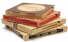 Pizza take away paper tray. Corrugated pizza paper box