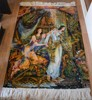 One Of A Kind Persian Miniature Farshchian Hand Knotted pictorial tableau rug - wall decoration