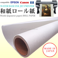 High quality and High-grade large format printing paper of Japanese rice paper, washi with fine organic texture